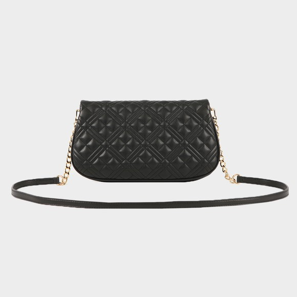 Love Moschino Womens Black Borsa Quilted Nappa Clutch main image