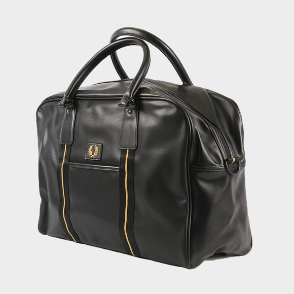 Fred Perry Mens Black Pique Texture Holdall