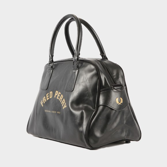 Fred Perry Mens Black Arch Branded Grip Bag