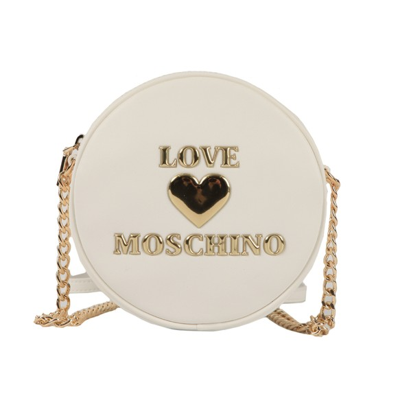 Love Moschino Womens White Padded Heart Shoulder Bag