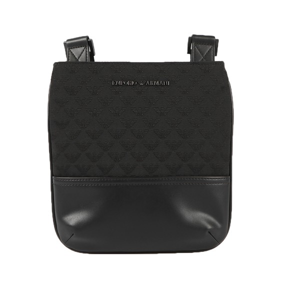 Emporio Armani Mens Black Allover Logo Bag