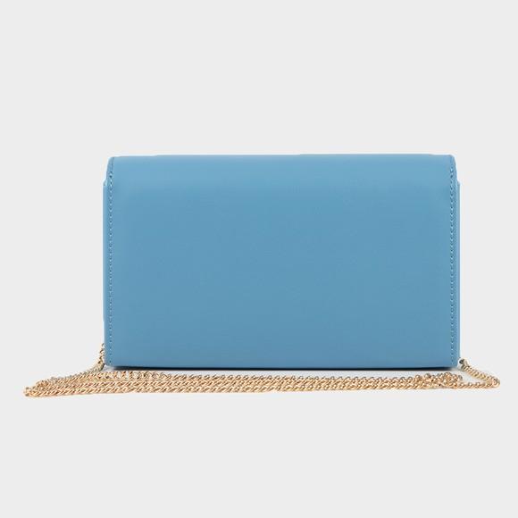 Love Moschino Womens Blue Padded Heart Evening Bag main image