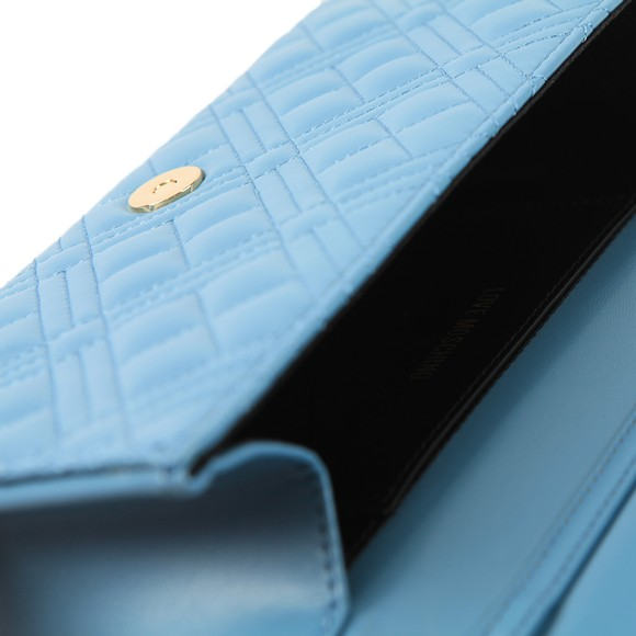Love Moschino Womens Blue Borsa Quilted Clutch main image