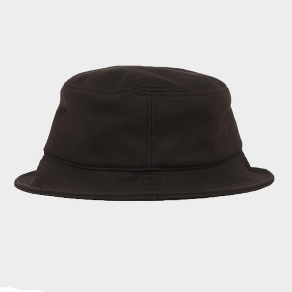 Fred Perry Mens Black Arch Branded Tricot Bucket Hat