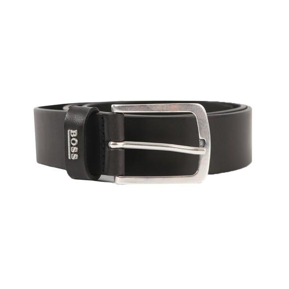 BOSS Mens Black Jor Logo Belt