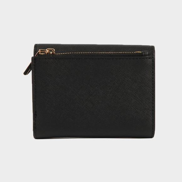 Michael Kors Womens Black Mid Trifold Envelope Wallet