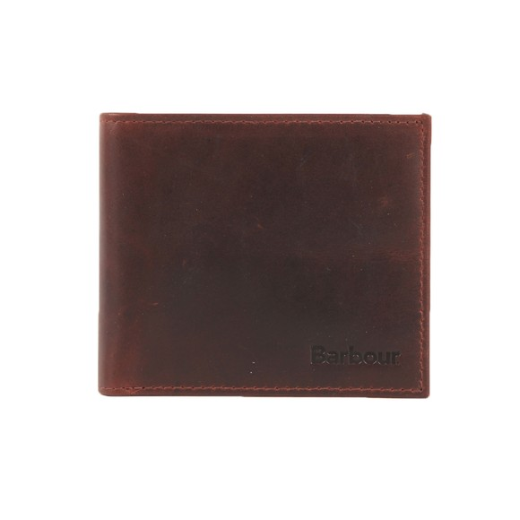 Barbour Lifestyle Mens Brown Wax/Leather Billfold Wallet