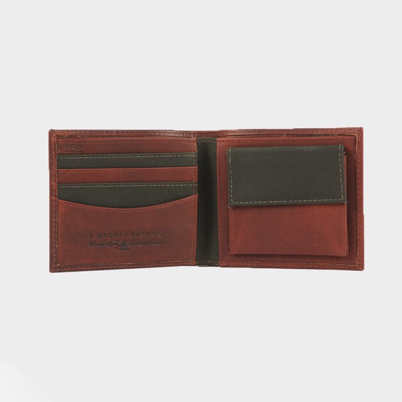 Barbour Lifestyle Mens Brown Wax/Leather Billfold Wallet main image