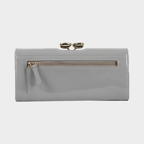 Ted Baker Womens Grey Emmeyy Teardrop Crystal Patent Bobble Matinee Purse main image