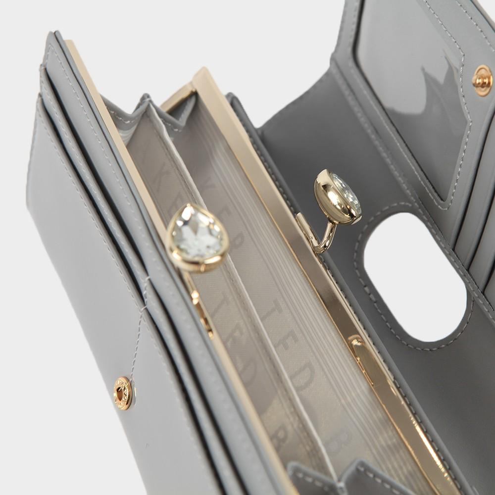 Emmeyy Teardrop Crystal Patent Bobble Matinee Purse main image