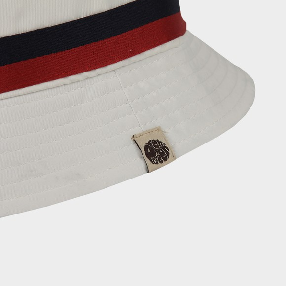 Pretty Green Mens White Tilby Bucket Hat main image