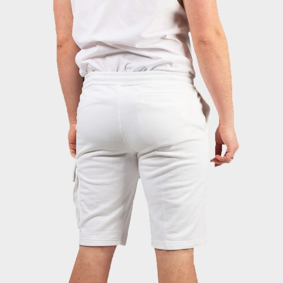 Calvin Klein Jeans Mens White Monogram Sweat Short main image