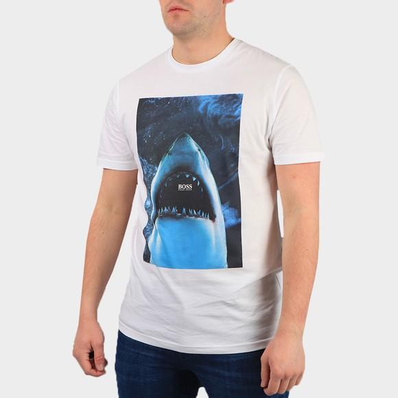 BOSS Mens White Casual TNoah T Shirt