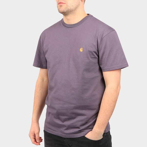 Carhartt WIP Mens Purple Chase T Shirt main image