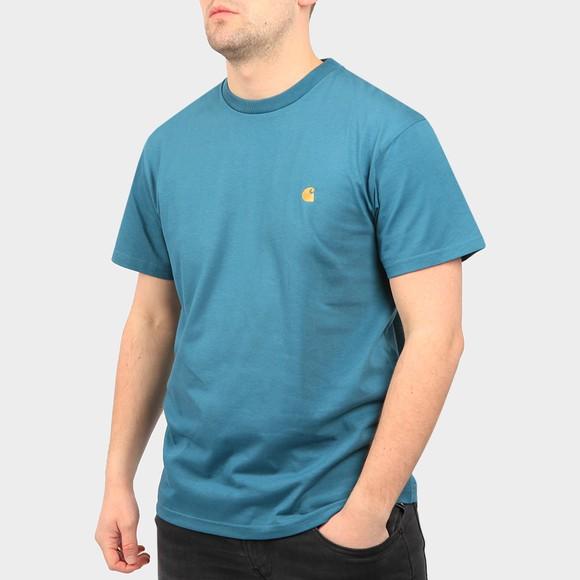 Carhartt WIP Mens Blue Chase T Shirt
