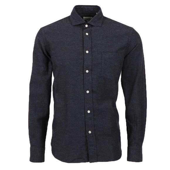 Hartford Mens Blue Storm Flannel Shirt main image