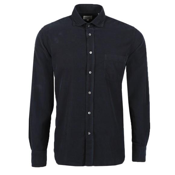 Hartford Mens Blue Paul Pat LS Shirt
