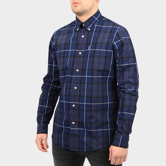 Barbour Lifestyle Mens Blue Sandwood Shirt