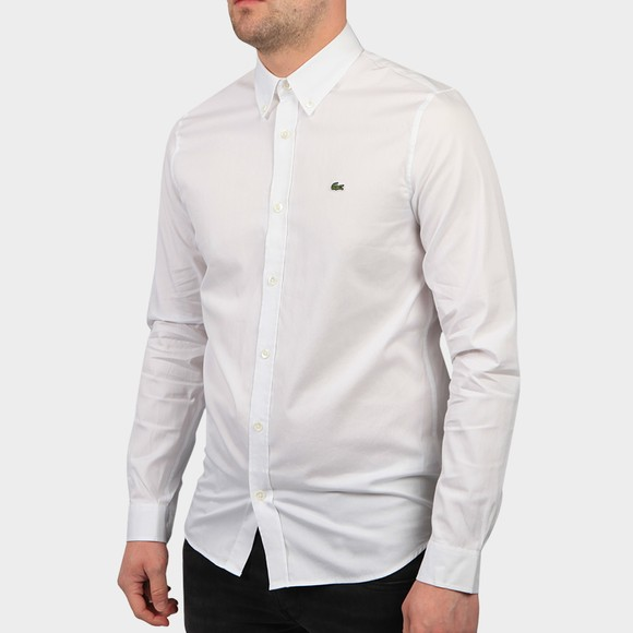 Lacoste Mens White CH2933 Premium Cotton Shirt
