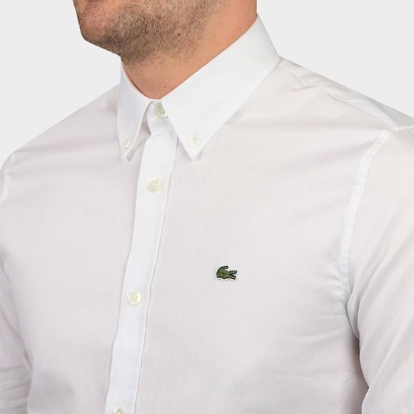 Lacoste Mens White CH2933 Premium Cotton Shirt main image
