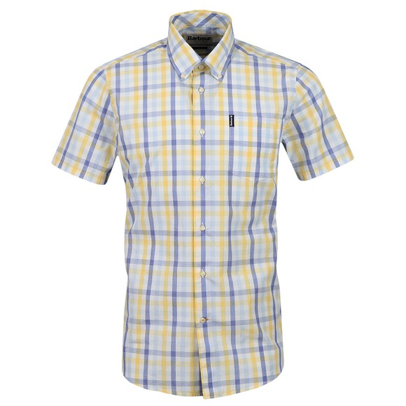 Barbour Lifestyle Mens Yellow S/S Tattersall 14 Shirt main image