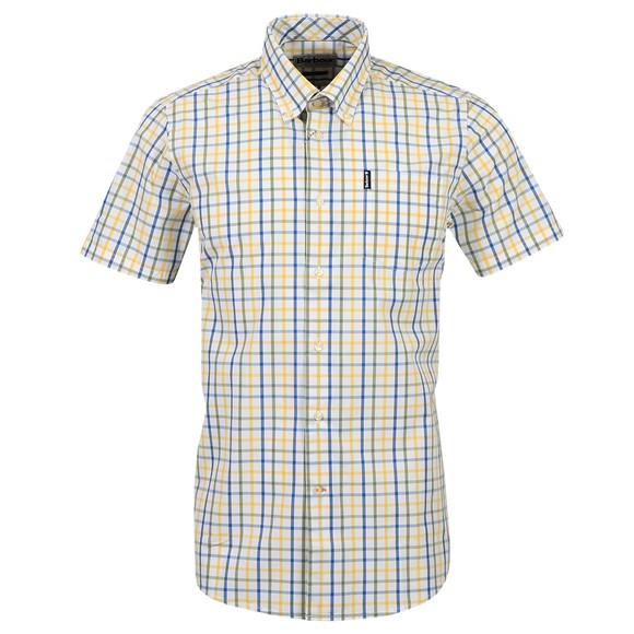Barbour Lifestyle Mens Yellow S/S Tattersal 15 Shirt