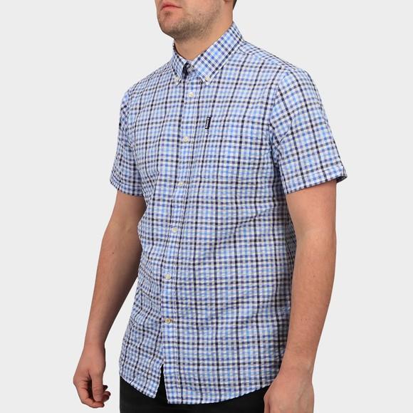 Barbour Lifestyle Mens Blue S/S Seersucker 6 Shirt
