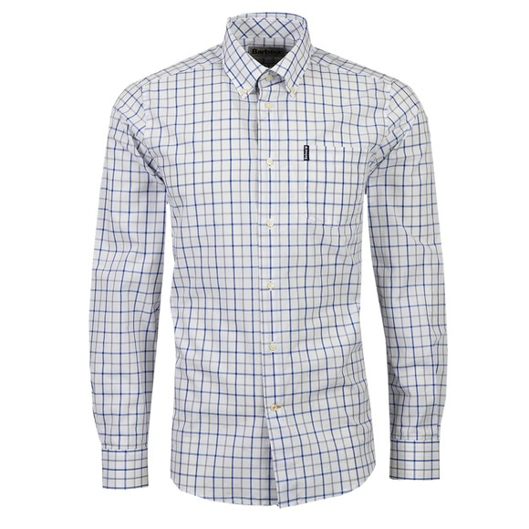 Barbour Lifestyle Mens Blue Tattersal 13 Tailored Shirt