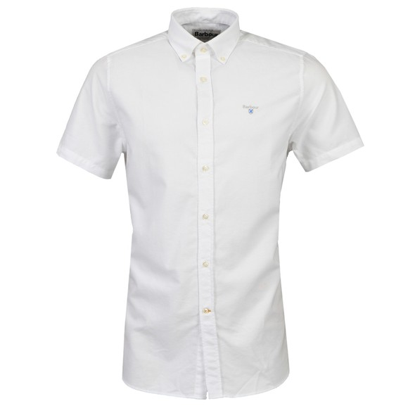 Barbour Lifestyle Mens White S/S Oxford 3 Shirt