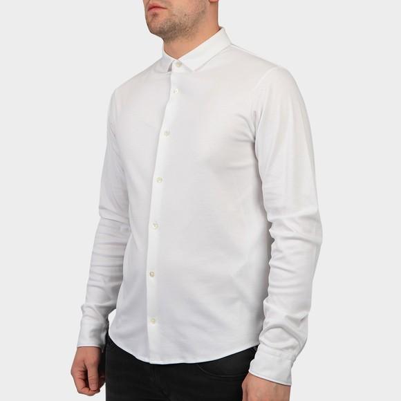Emporio Armani Mens White Long Sleeve Jersey Shirt