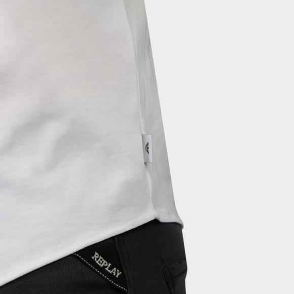 Emporio Armani Mens White Long Sleeve Jersey Shirt main image