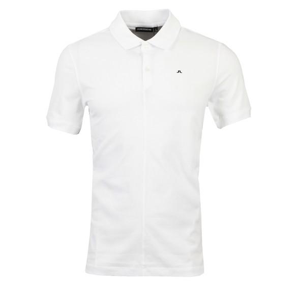 J.Lindeberg Mens White Rubi Slim Polo Shirt