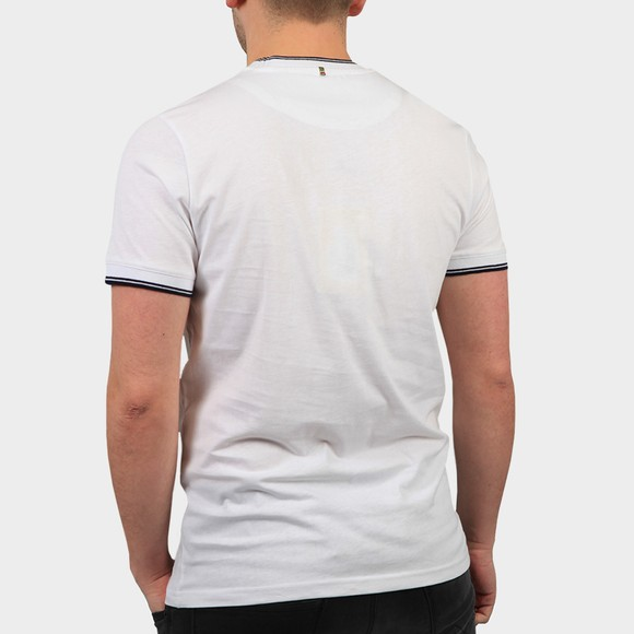 Pretty Green Mens White Embroidered T Shirt main image