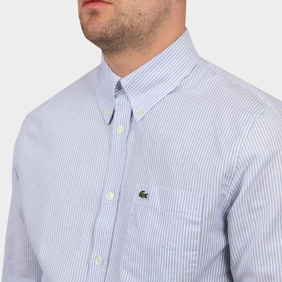 Lacoste Mens Blue Stripe Oxford Shirt main image