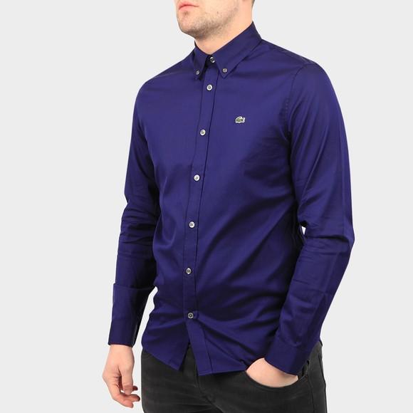 Lacoste Mens Blue CH2933 Premium Cotton Shirt