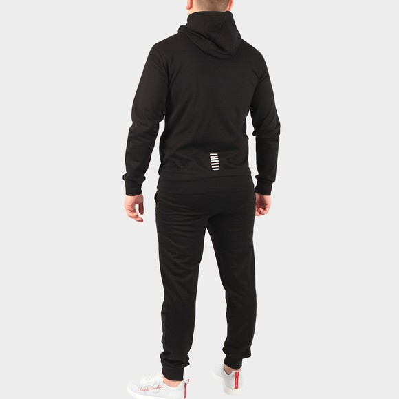 EA7 Emporio Armani Mens Black Small Logo Full Zip Hooded Tracksuit main image