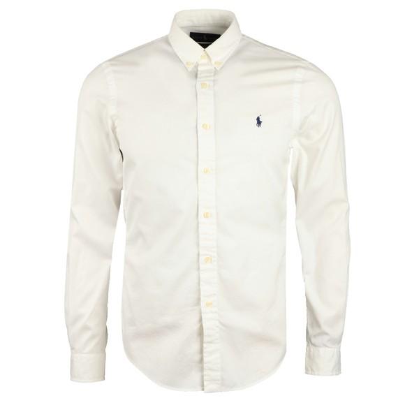 Polo Ralph Lauren Mens White Slim Fit Featherweight Twill Shirt