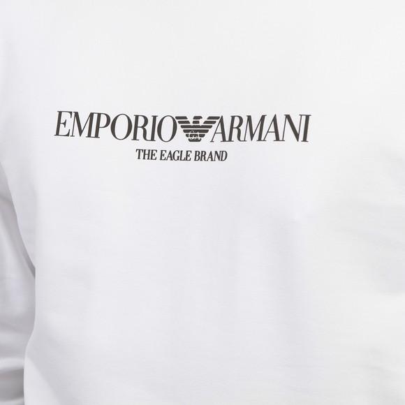Emporio Armani Mens White The Eagle Brand Sweatshirt main image