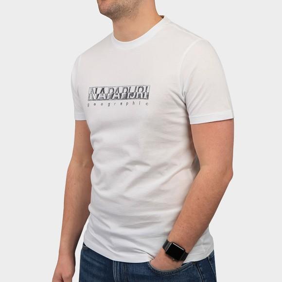 Napapijri Mens White Sallar T Shirt