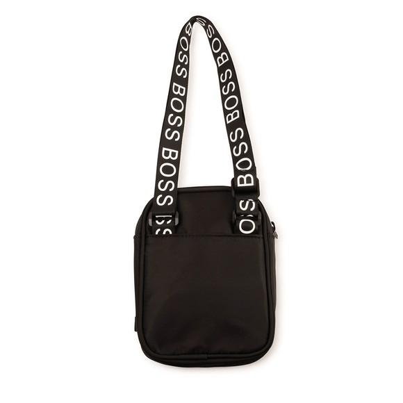 BOSS Boys Black J20290 Square Badge Bag