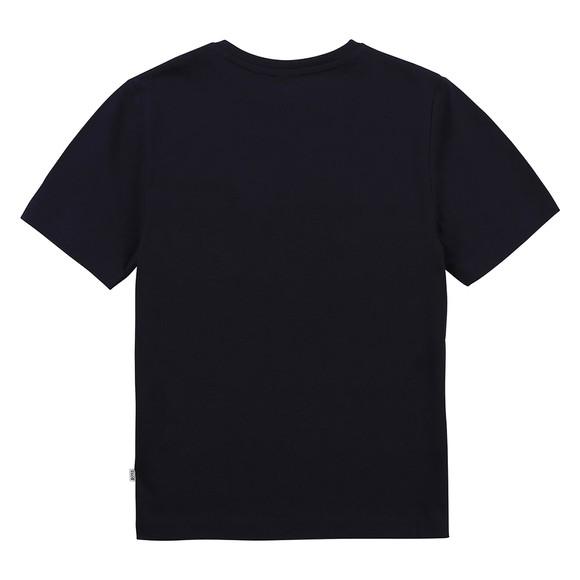 BOSS Boys Blue J25G93 Gold Logo T Shirt main image