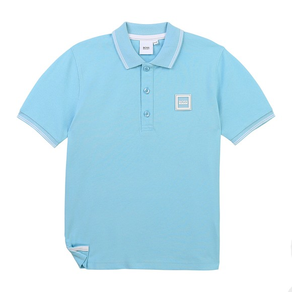 BOSS Baby Boys Turquoise J05846 Square Badge Polo