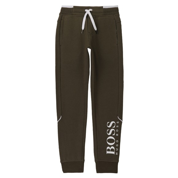 BOSS Boys Green J24M35 Logo Jogger main image