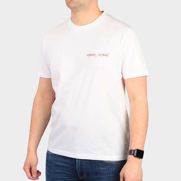 Maison Labiche Mens White Friday,Yeah! Heavy T-Shirt