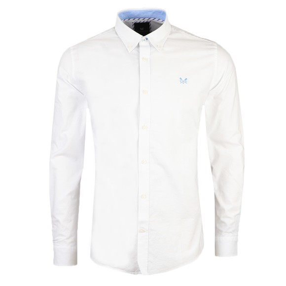 Crew Clothing Company Mens White Oxford Shirt