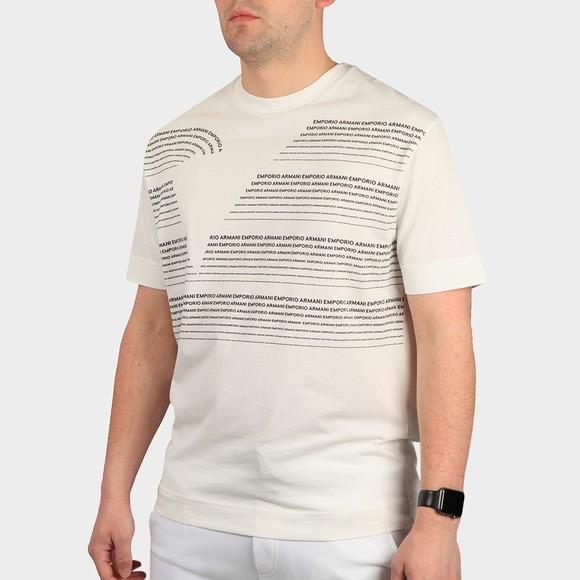 Emporio Armani Mens White 6H1T97 Logo T Shirt