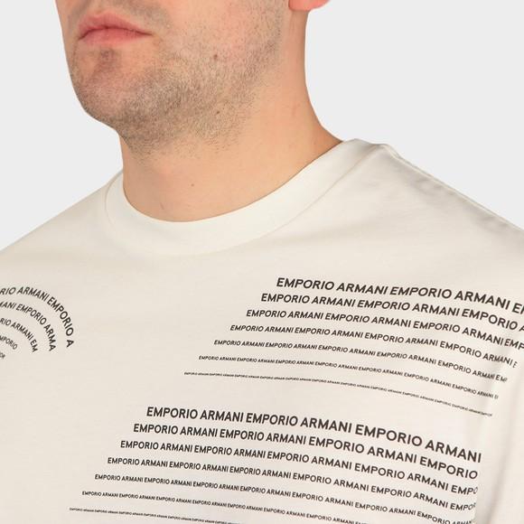 Emporio Armani Mens White 6H1T97 Logo T Shirt main image