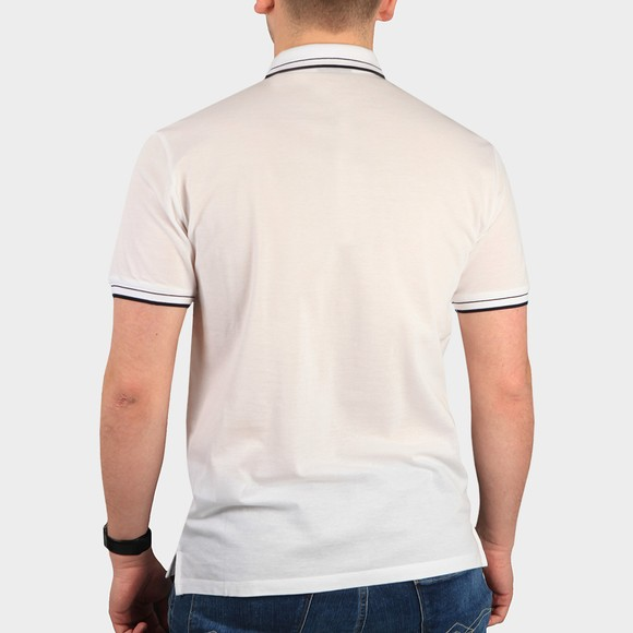 Emporio Armani Mens White Tipped Polo Shirt main image