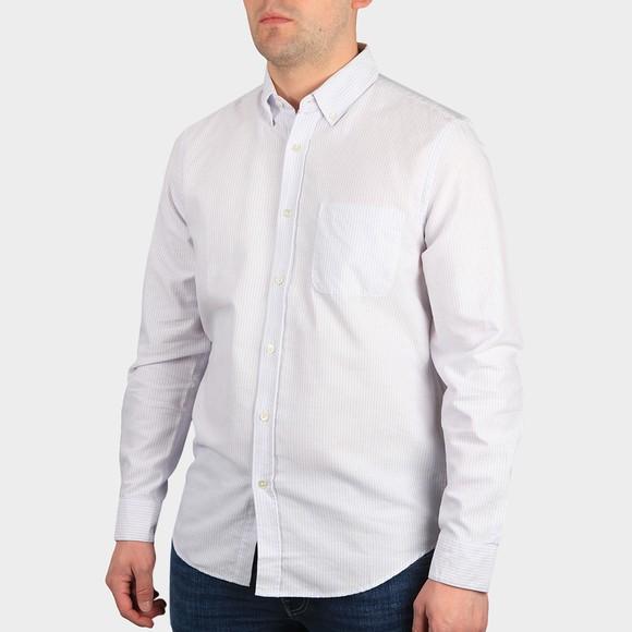 Portugese Flannel Mens Pink Belavista Short Sleeve Stripe Shirt