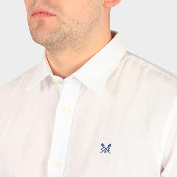 Crew Clothing Company Mens White S/S Linen Shirt main image